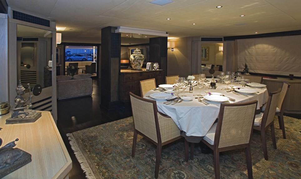 Eating/dining Saloon On Board Yacht SENSEI