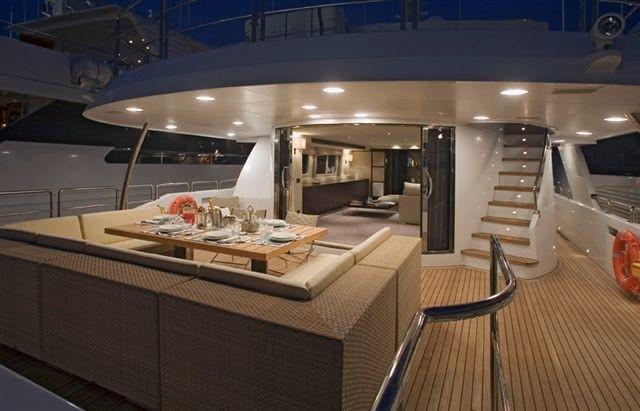 Sun Deck Aboard Yacht SENSEI