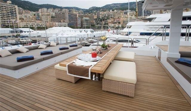 Sun Deck Sitting On Yacht SENSEI