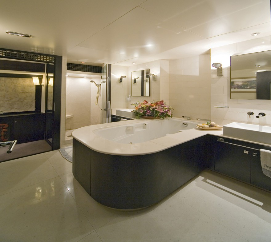 Main Master Bath On Yacht SENSEI