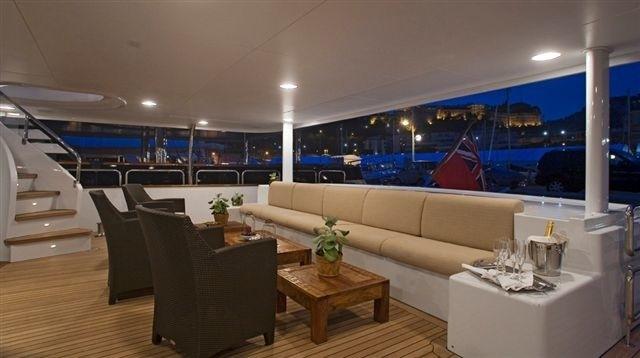 Premier Aft Deck On Yacht SENSEI