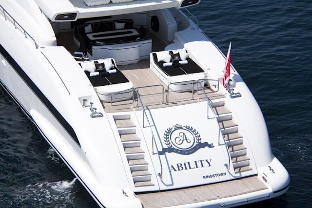 Aft Deck On Board Yacht SHANE
