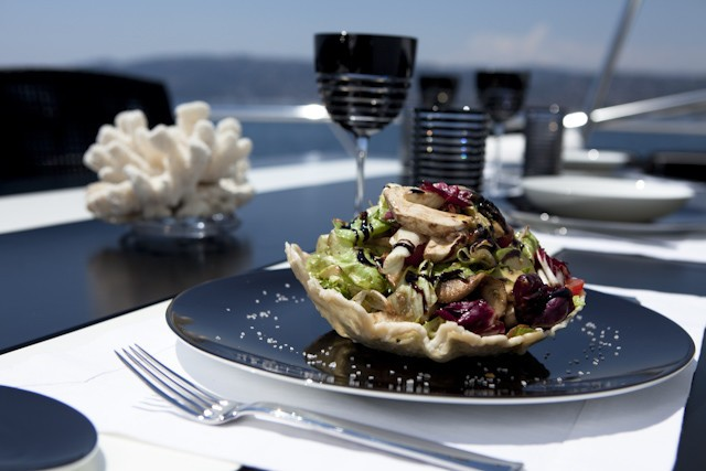 Eating/dining Upon Aft Deck Aboard Yacht SHANE