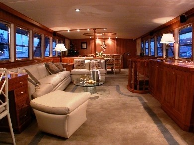 Saloon With Eating/dining On Yacht AVA