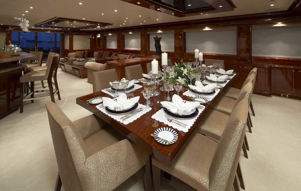 Eating/dining Saloon On Yacht LADY LEILA