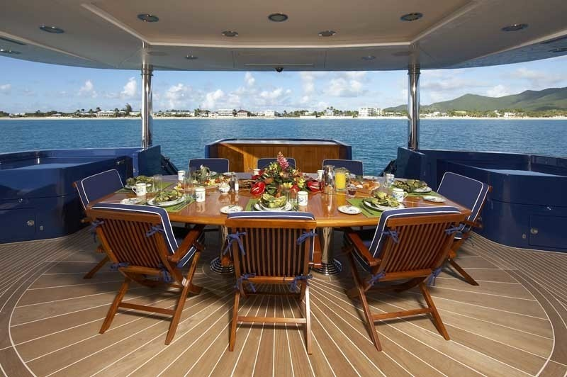 Aft Deck Eating/dining On Board Yacht LADY LEILA