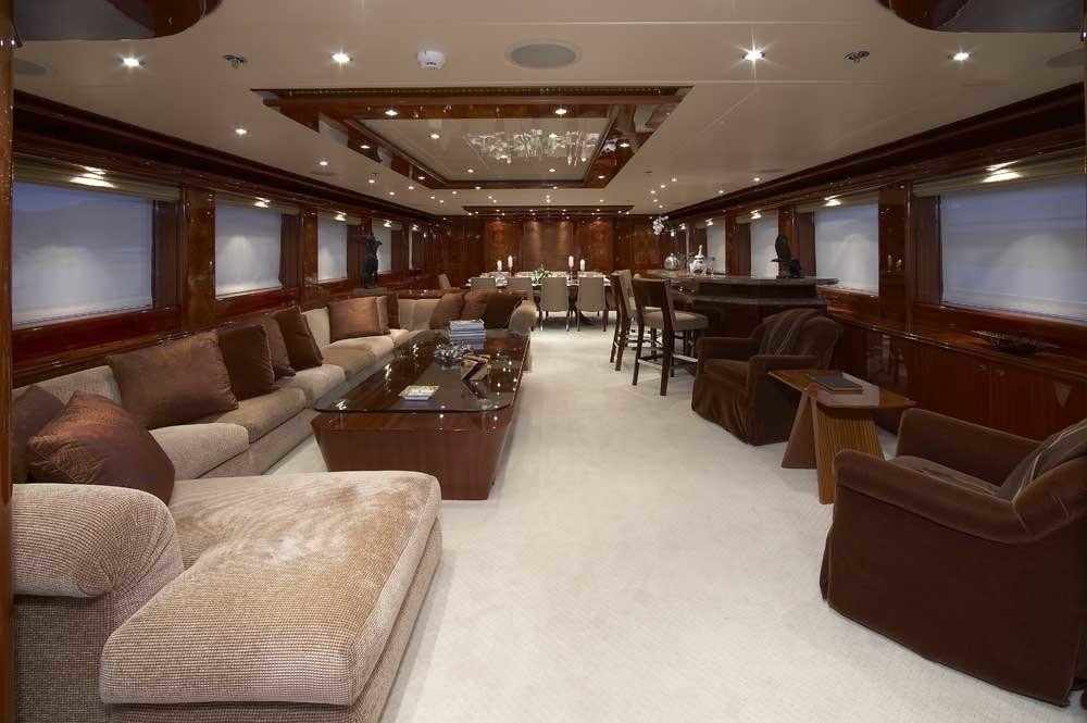 Premier Saloon Aboard Yacht LADY LEILA