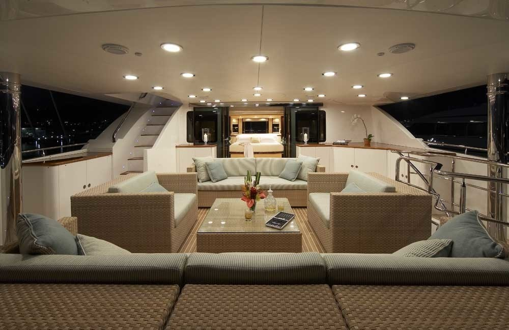 Top Deck Aspect Fore To Main Master Cabin On Board Yacht LADY LEILA
