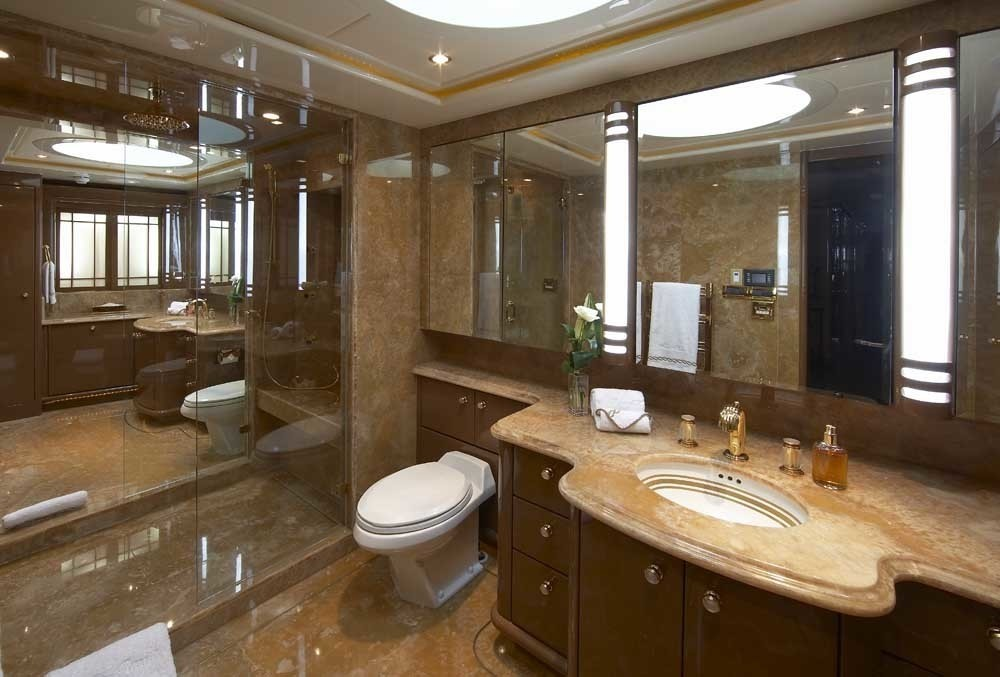 Main Master Bath On Yacht LADY LEILA