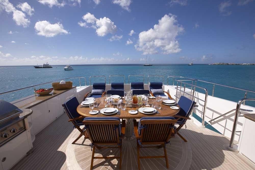 Sun Deck Eating/dining On Yacht LADY LEILA