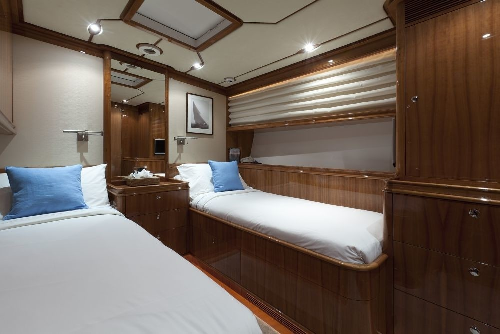 Twin Bed Stateroom Aboard Yacht THIS IS US
