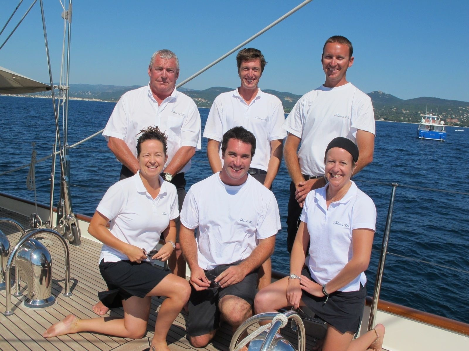 Crewmember's Aboard Yacht THIS IS US