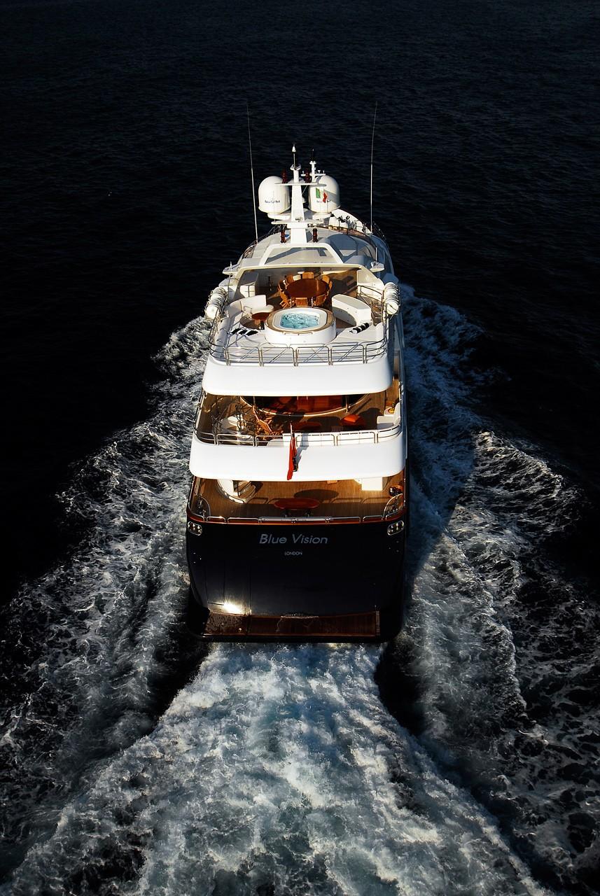 Aft Decks On Board Yacht BLUE VISION