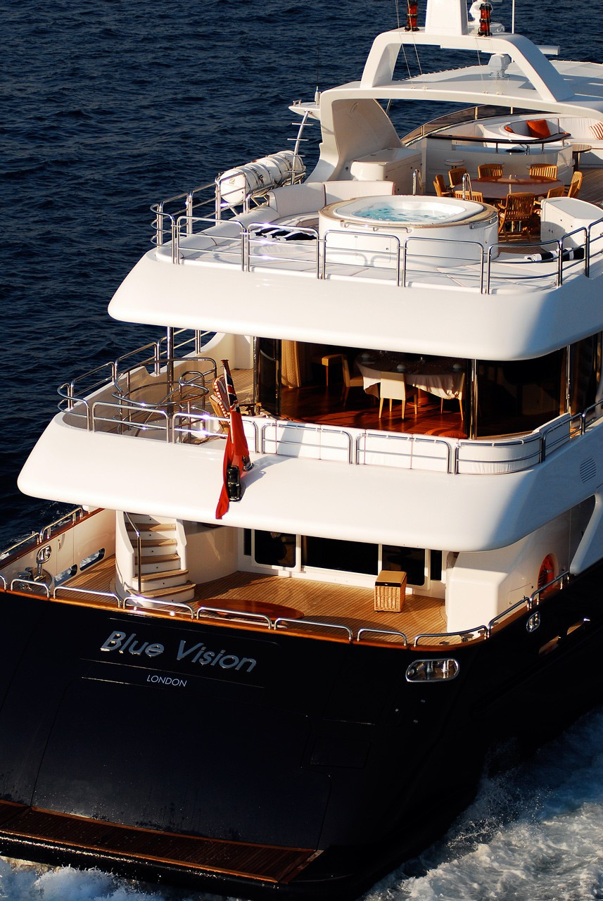 Aft On Yacht BLUE VISION