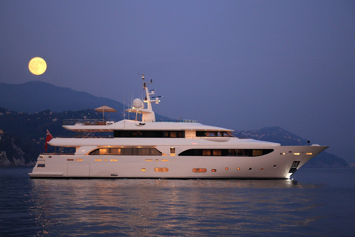 Evening Overview On Yacht HANA