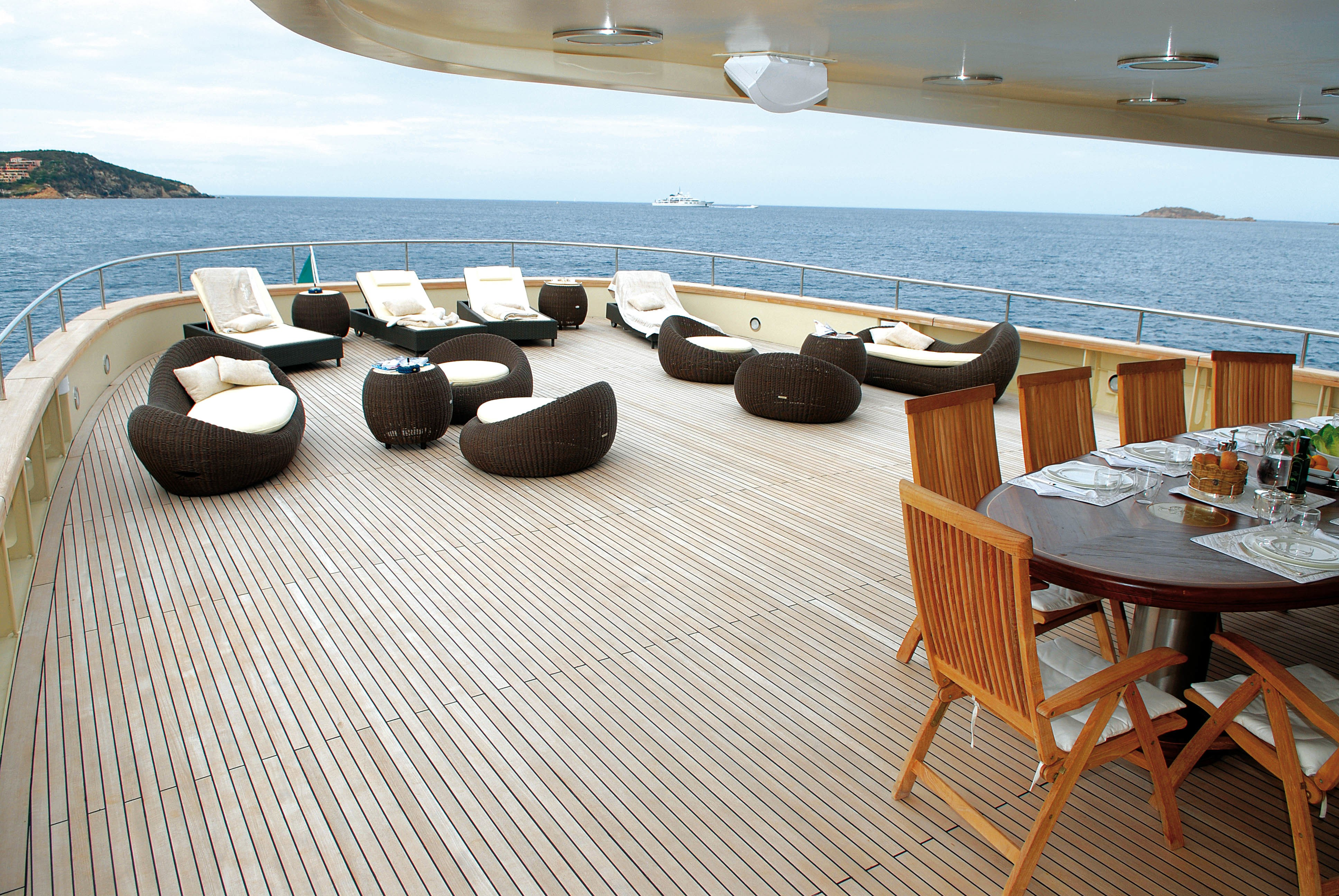 Deck On Board Yacht ARIETE PRIMO
