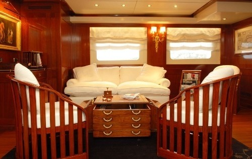 Top Deck Saloon On Yacht ARIETE PRIMO