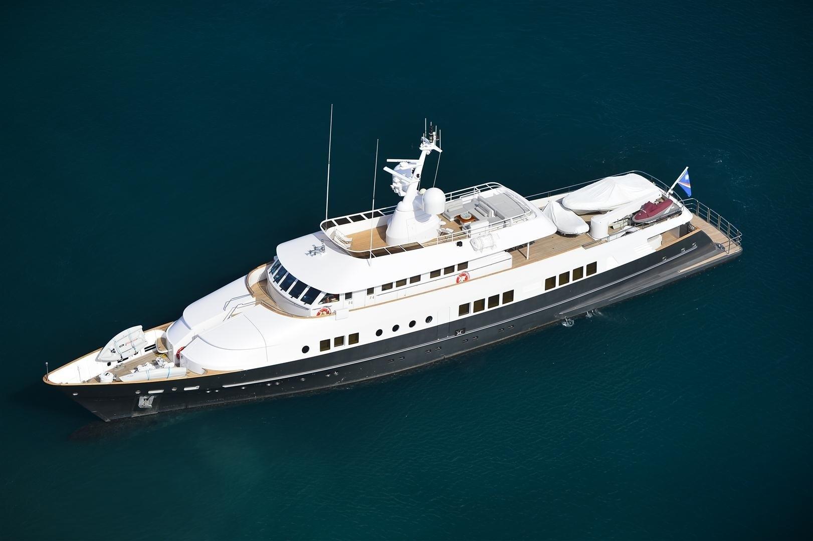 Overview Above Aspect On Board Yacht BERZINC