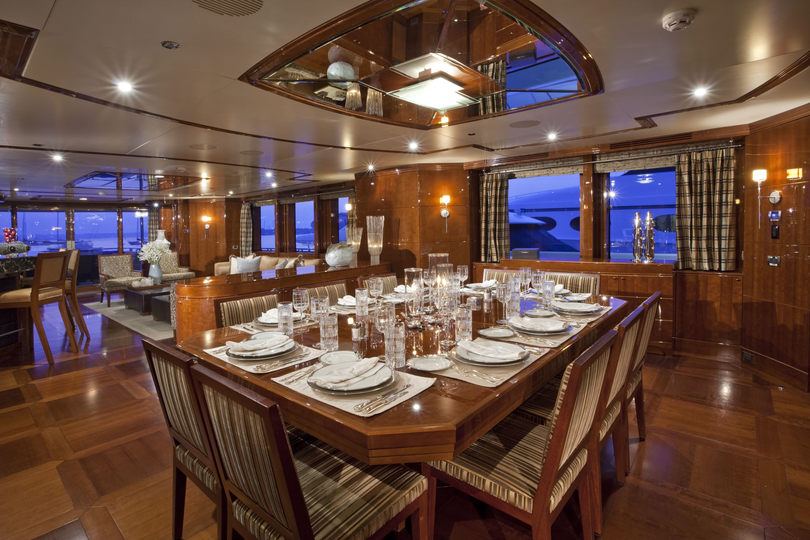 Eating/dining Zone On Yacht COCO VIENTE
