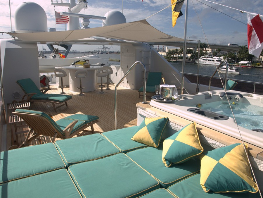 Jacuzzi Pool Aboard Yacht RELENTLESS