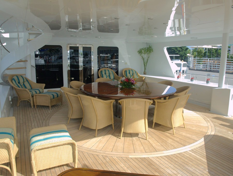 Top Aft Deck On Yacht RELENTLESS