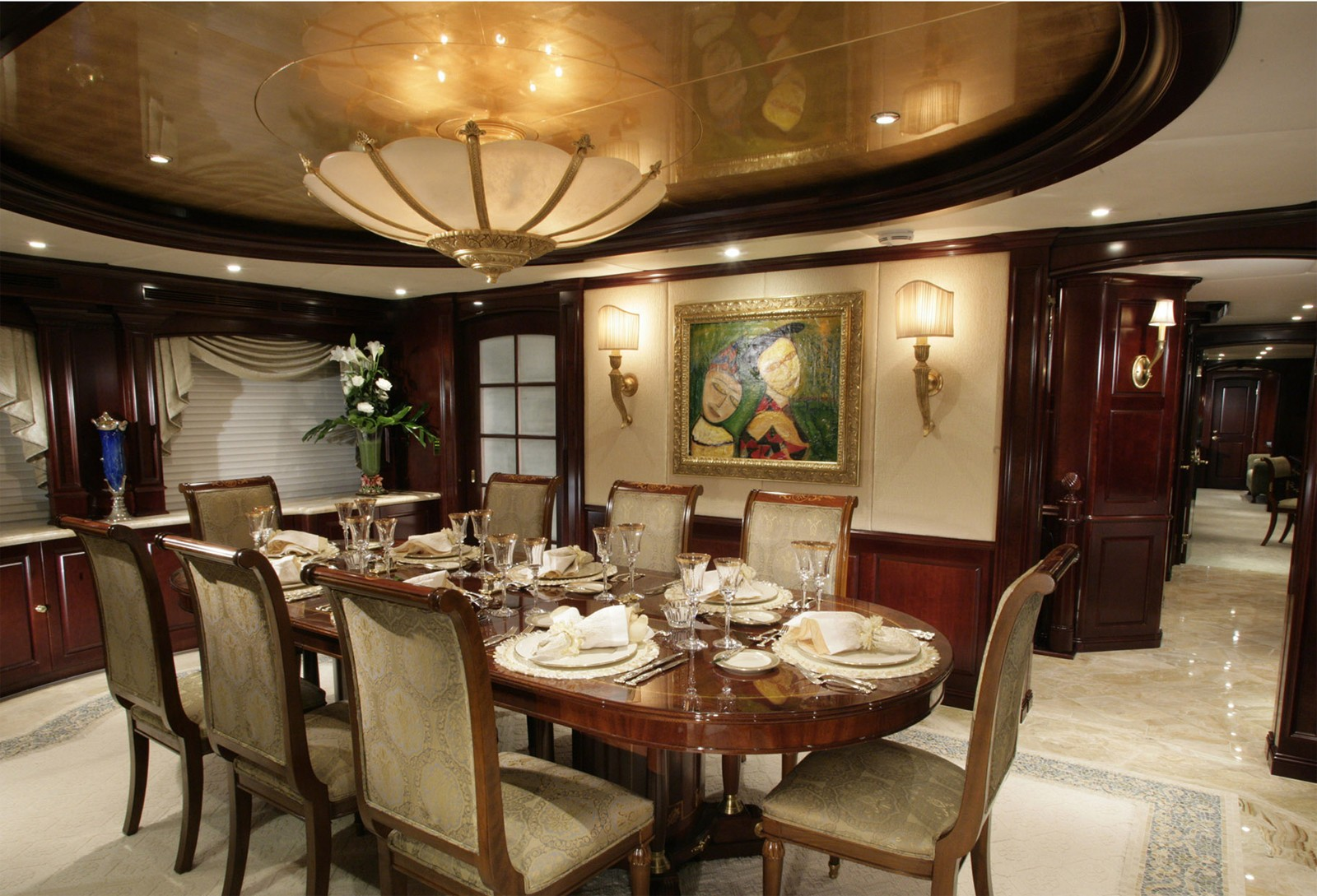 Eating/dining Saloon On Yacht CLAIRE