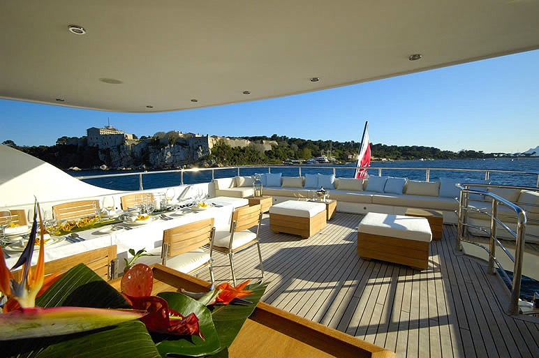 External Eating/dining On Board Yacht FATHOM