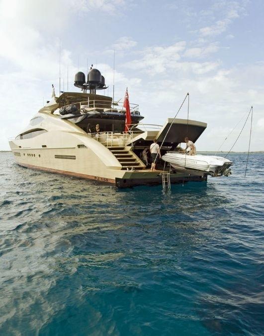 Ship's Tender Launch Aboard Yacht HOKULANI