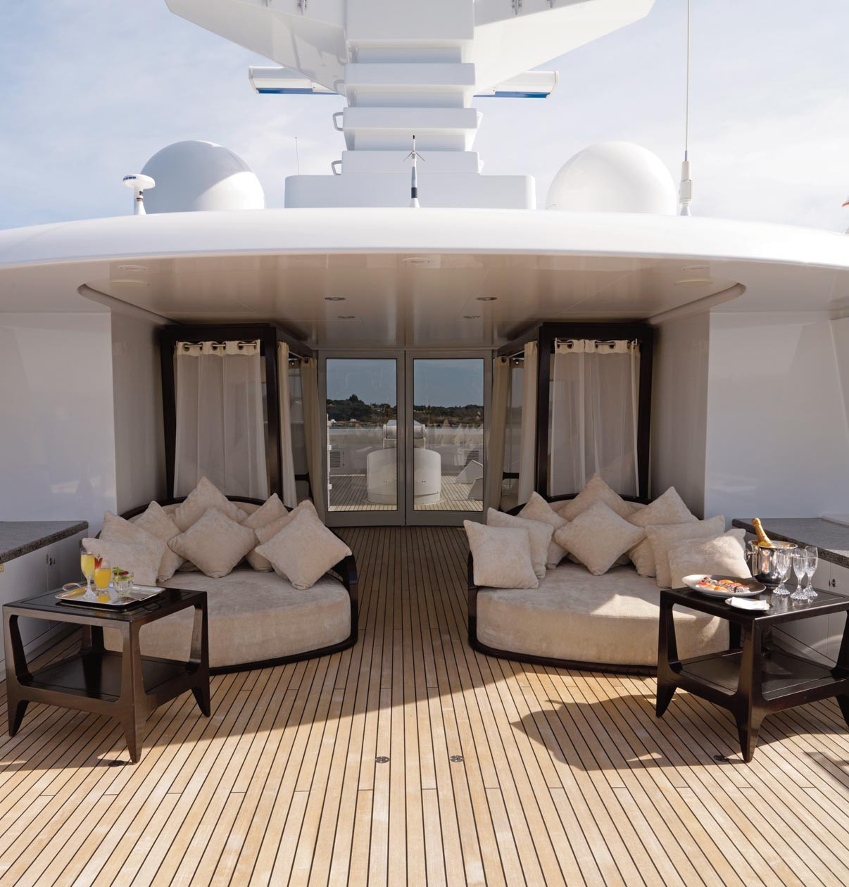Sun Deck Lounging On Board Yacht MY LITTLE VIOLET