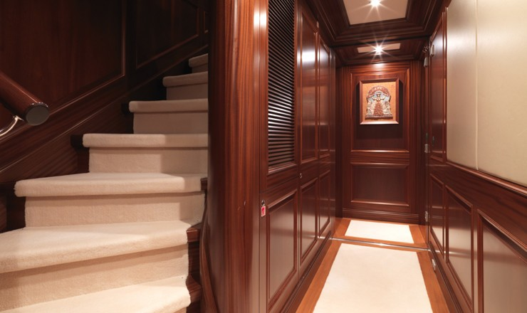 Stairway On Yacht MY LITTLE VIOLET