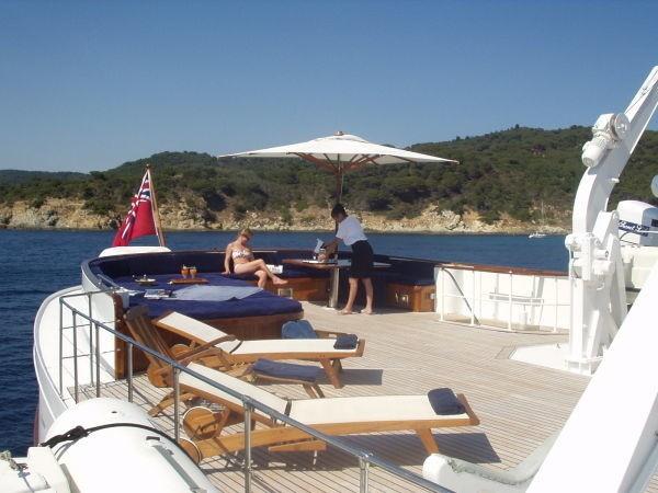 Sunshine Lounging Aboard Yacht SECRET LIFE