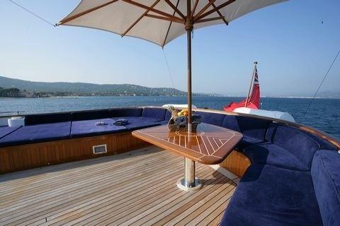 Top Deck On Yacht SECRET LIFE