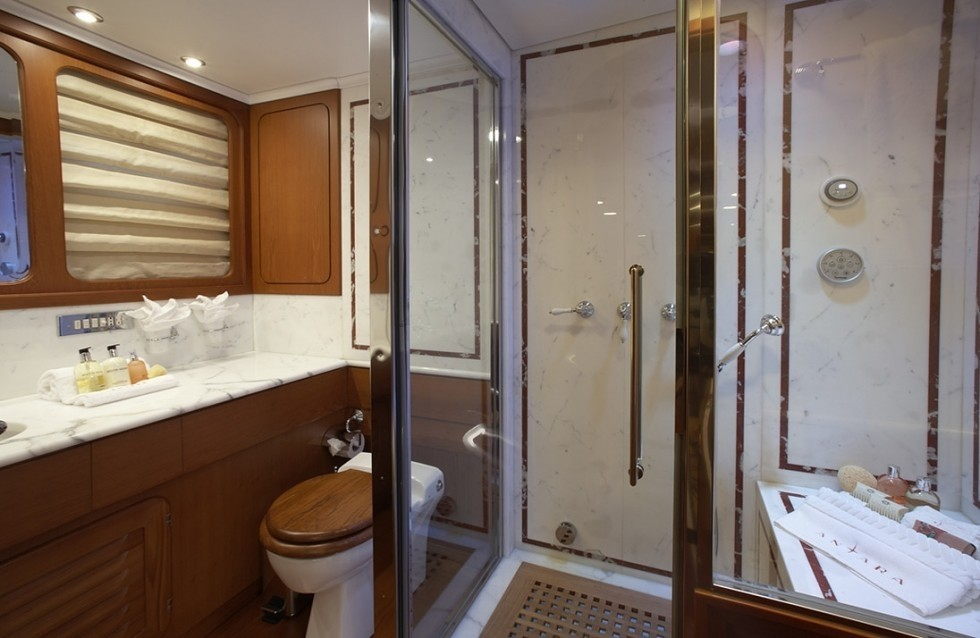 Showering Area On Board Yacht ANTARA