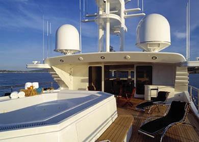 Swimming Pool Deck On Board Yacht ARGYLL
