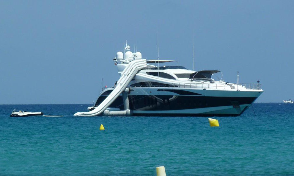 Water Slide On Yacht PURE ONE