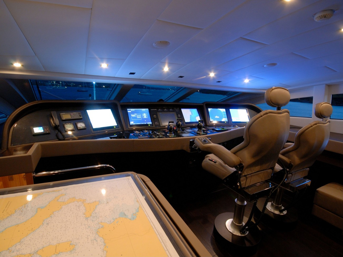 Bridgedeck Aboard Yacht PURE ONE