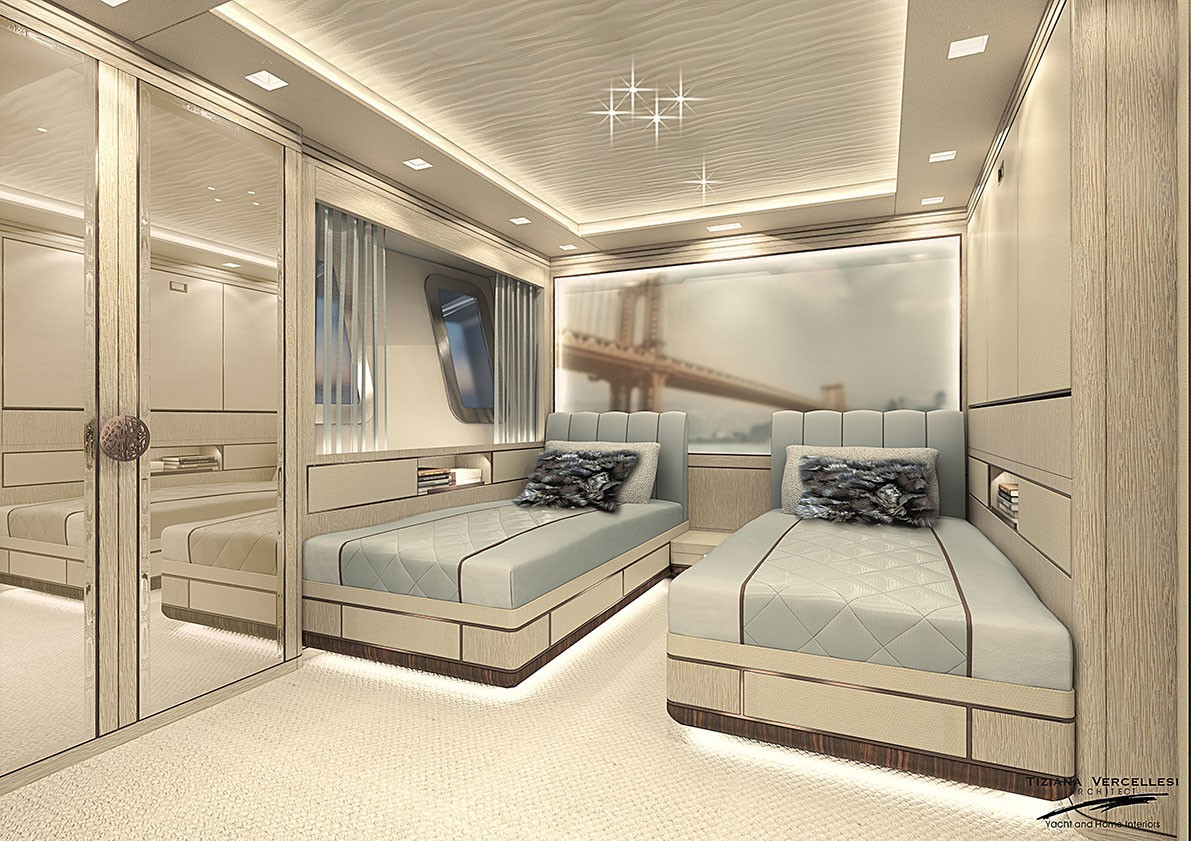 twin stateroom - London - rendering