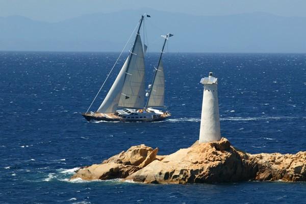 Aspect Taken From Shoreline On Board Yacht ANDROMEDA LA DEA