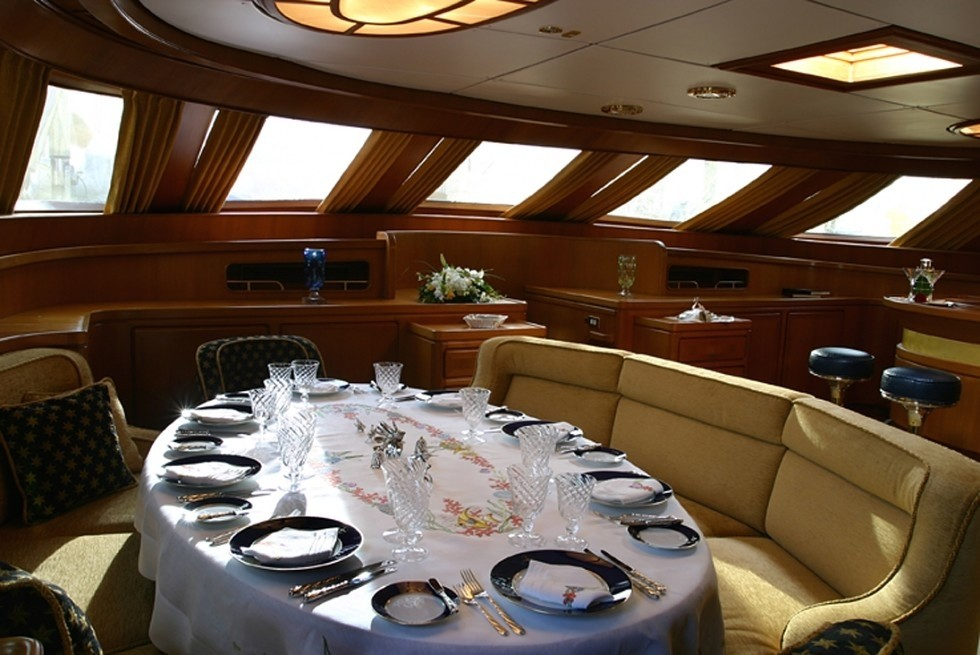 Eating/dining Saloon On Yacht ANDROMEDA LA DEA