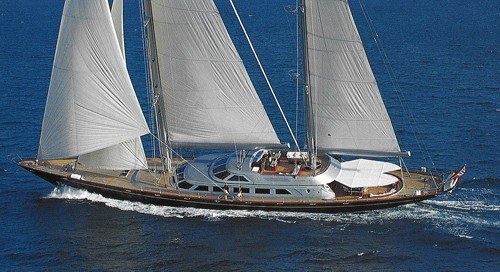 Cruising Under Sail: Yacht ANDROMEDA LA DEA's From Above Aspect Image