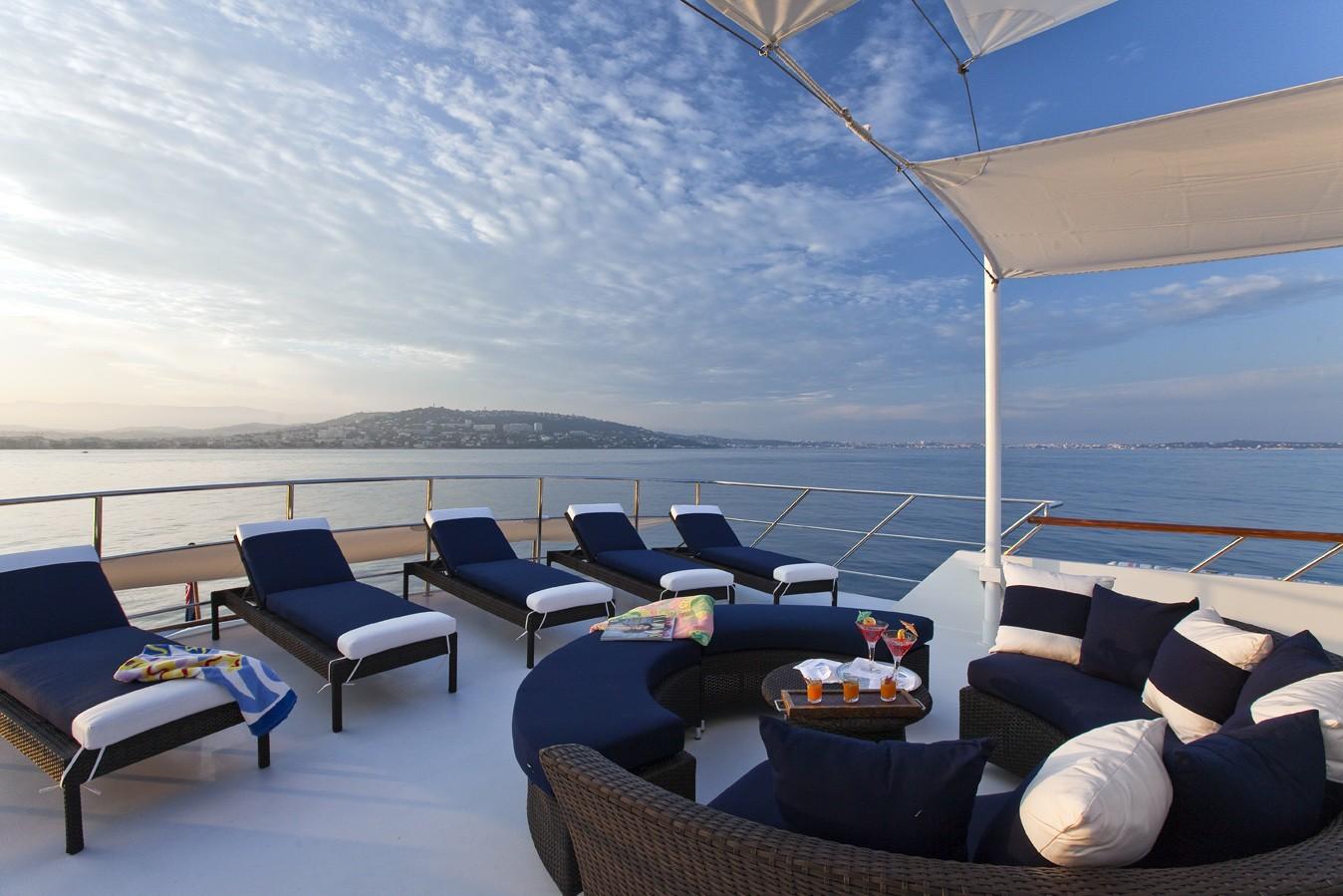 Sun Deck Aft On Yacht AUDACIA