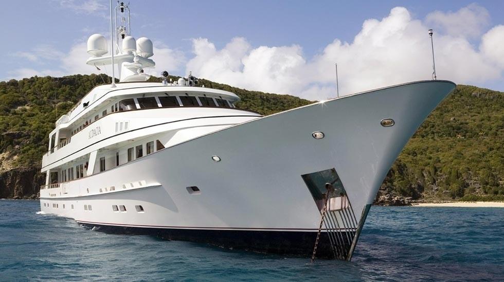 Ship's Bow Aboard Yacht AUDACIA