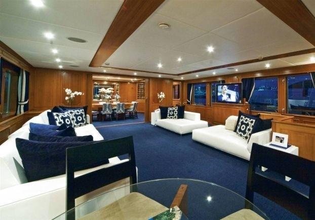 Saloon Aboard Yacht AUDACIA