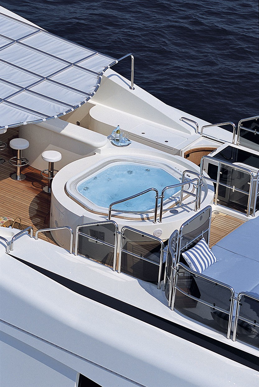 Jacuzzi Pool: Yacht JO's From Above Captured