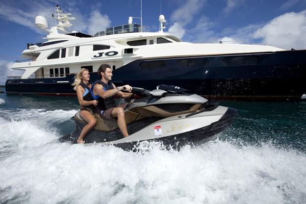 Jetski Aboard Yacht JO