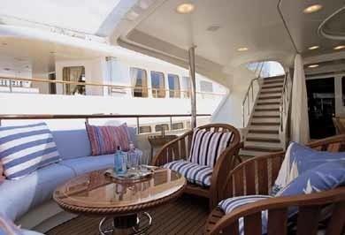 Top Aft Deck Aboard Yacht JO