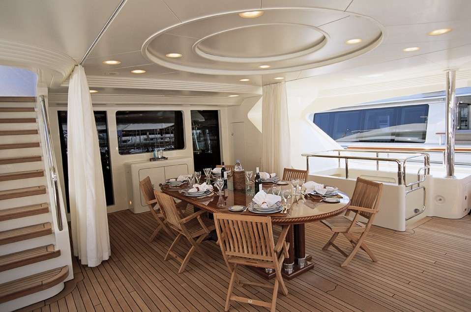Top Aft Deck On Yacht JO