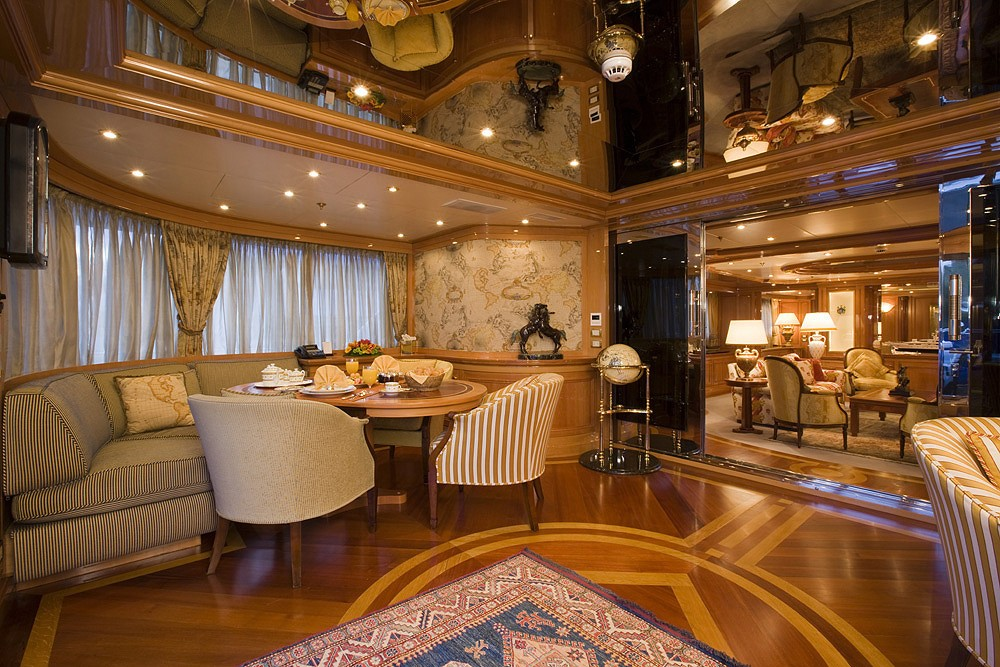 Saloon Aboard Yacht LADY ANN MAGEE