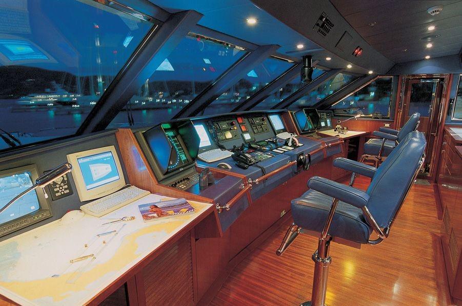 Pilot House On Yacht LADY ANN MAGEE