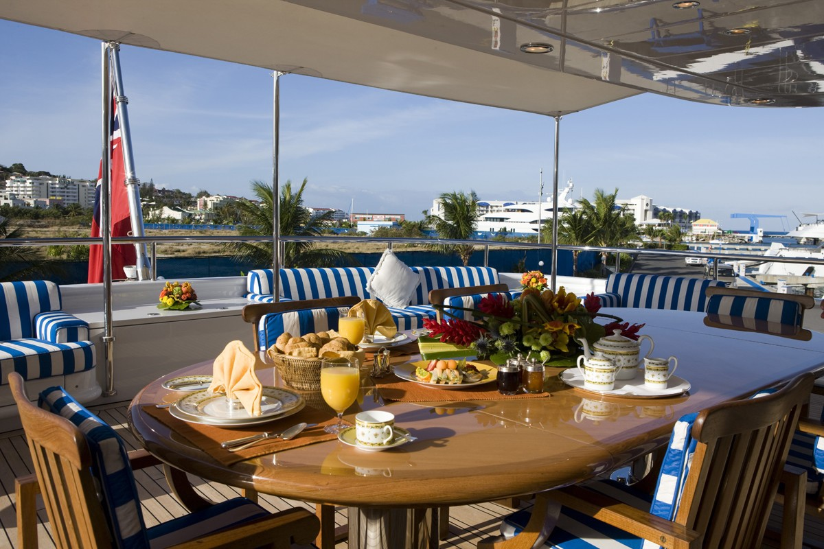 External Eating/dining On Board Yacht LADY ANN MAGEE